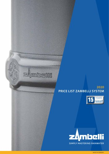 System Pricelist - Roof Drainage