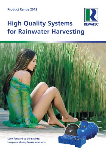 High-quality systems for rainwater harvesting