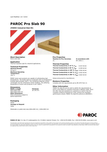 PAROC Pro Slab 90