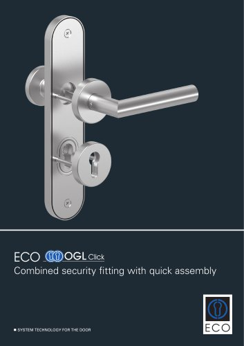 Combined security fitting with quick assembly