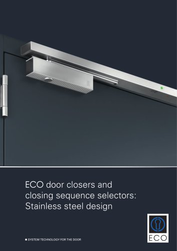 ECO door closers and closing sequence selectors