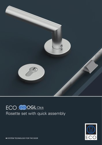 ECO OGL Click - Rosette set with quick assembly