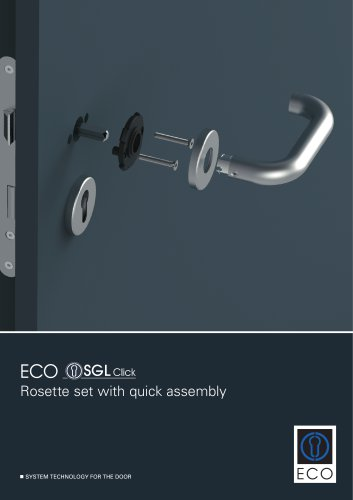 Rosette set with quick assembly