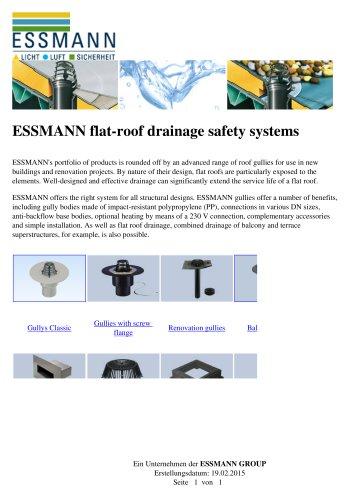 ESSMANN flat-roof drainage safety systems