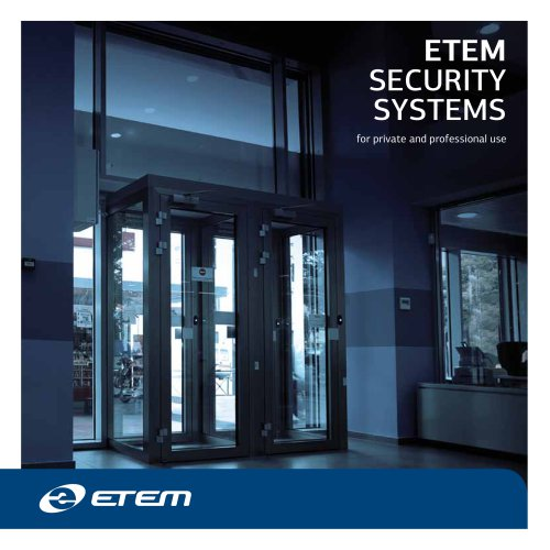 SECURITY SYSTEMS for private and professional use
