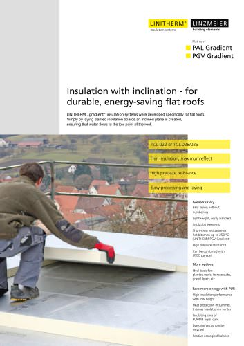 Insulation with inclination ? for durable, energy-saving flat roofs