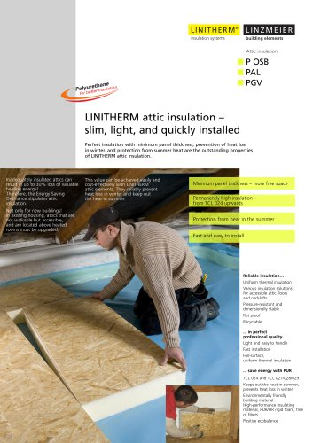 LINITHERM attic insulation ? slim, light, and quickly installed