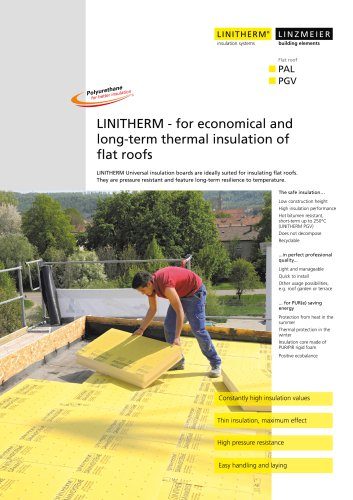 LINITHERM ? for economical and long-term thermal insulation of flat roofs