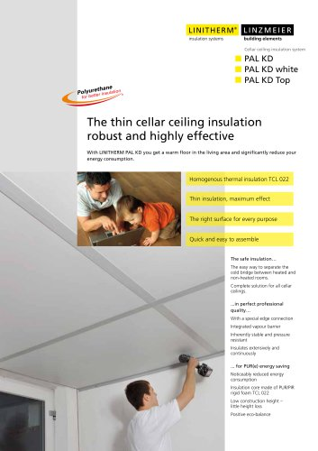 The thin cellar ceiling insulation - robust and highly effective