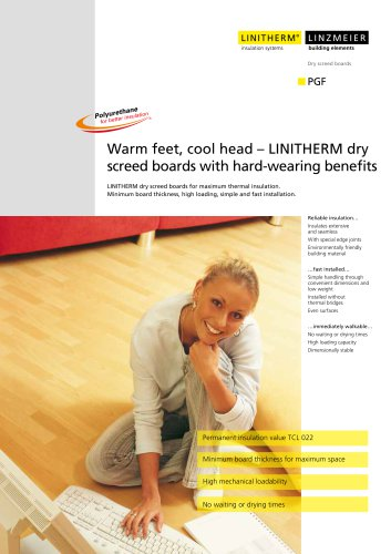 Warm feet, cool head - LINITHERM dry screed boards with hard-wearing benefits