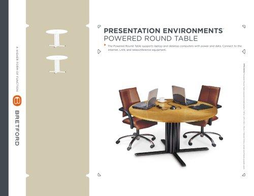 Round Powered Tables Cutsheet