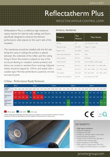 Refl ectatherm Plus Data sheet